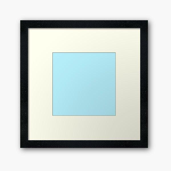 Couleur unie | Bleu diamant | Bleu Impression encadrée