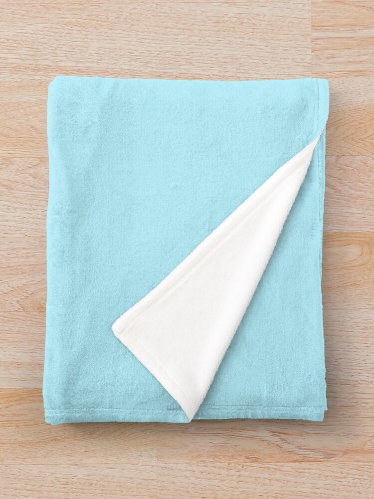 Alternate view of Solid Colour | Diamond Blue | Blue Throw Blanket