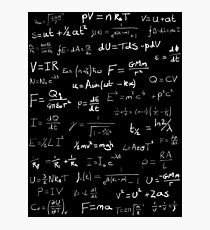 Physics - handwritten Photographic Print