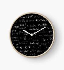 Physics - handwritten Clock