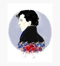 sherlock in blue blood Photographic Print