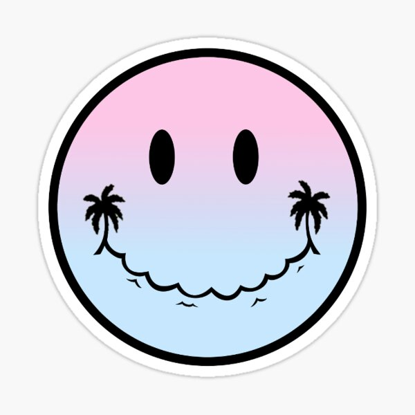Emoji of a Wave Ombre Sticker