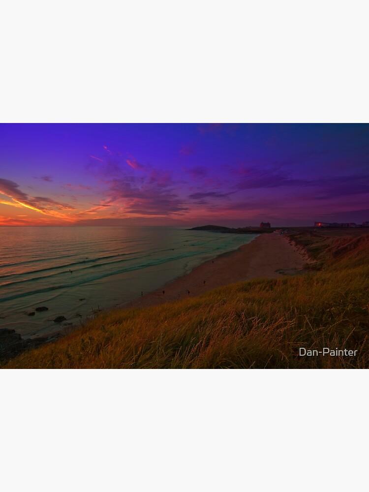 Newquay, Fistral Beach, Strand Sonnenuntergang von Dan-Painter