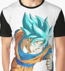 Goku God Blue Graphic T-Shirt