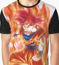 Goku God Red Graphic T-Shirt