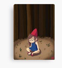 Lost in the woods digital illustration Canvas Print