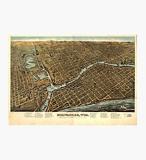 Aerial View of Milwaukee, Wisconsin (1872) Photographic Print