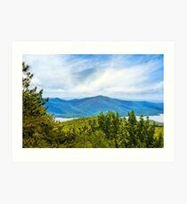Adirondacks Scenic Mountain Landscape Art Print