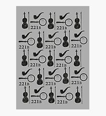 Sherlock Holmes Pattern Photographic Print