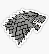game of thrones house stark wolf Sticker