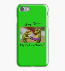 Naughty Frogs, My Pad or Yours... iPhone Case/Skin