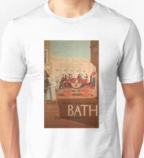 Vintage Travel Poster – Western Region Rail to Bath T-Shirt