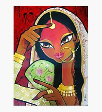 Indian Dancing girl Photographic Print
