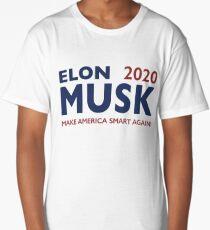 Elon Musk 2020 - Make America Smart Again! Long T-Shirt