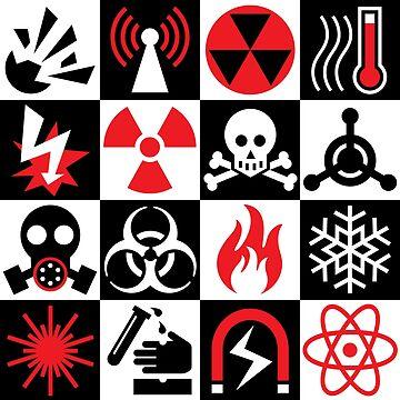 Hazard Danger Icons by Lisann