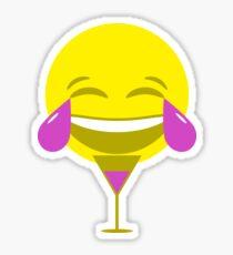 LMAO Purple Emoji Sticker