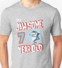 Im A Jaw-some 7 Year Old - Seventh Birthday Design T-Shirt