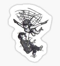 A lift on the elf's moonbelt Sticker
