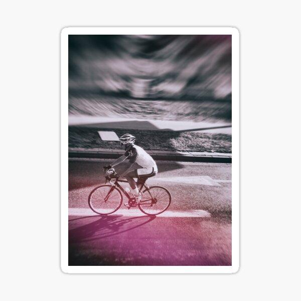 street photo CYCLING #street #photo Sticker