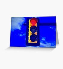 Red Light, Green Light  Greeting Card
