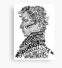 Sherlock Holmes - Crime Solving English Private Detective Metal Print