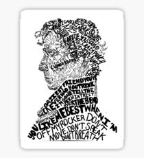 Sherlock Holmes - Crime Solving English Private Detective Sticker