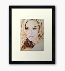 Scarlett Johansson, Pastels Portrait, by James Patrick Framed Print