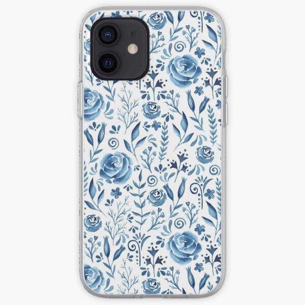 Blue flowers pattern iPhone Soft Case