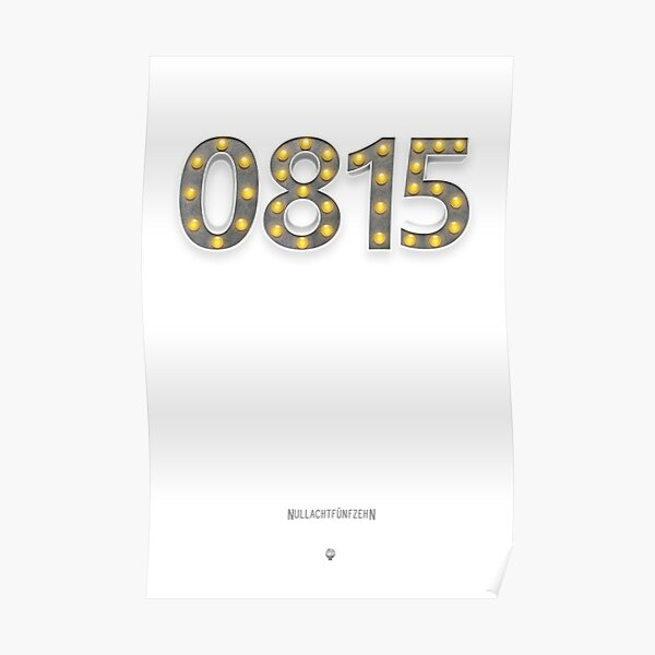 0815 - Alles andere als  Nullachtfünfzehn! Poster