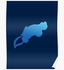 "Rocket League® - ""Aerial"" Blue T-shirt & Memorabilia Poster"