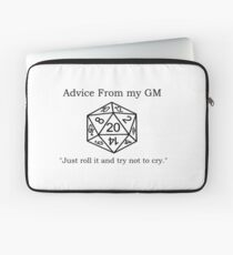 Pithy Roleplay Game Quote Laptop Sleeve