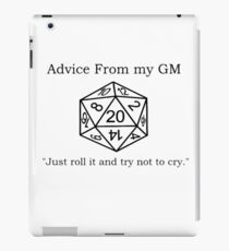 Pithy Roleplay Game Quote iPad Case/Skin