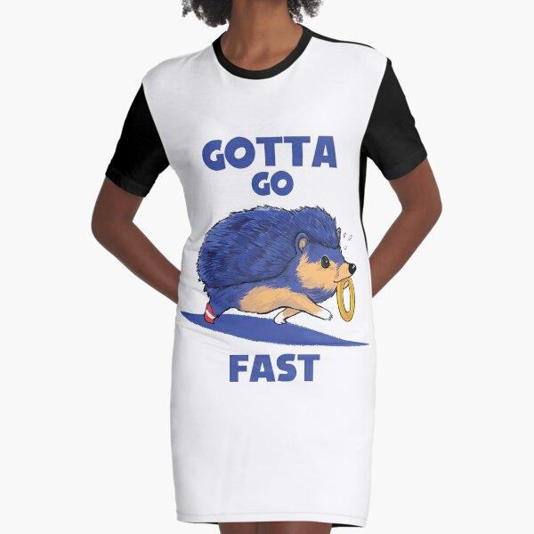 Gotta Go Fast Graphic T-Shirt Dress