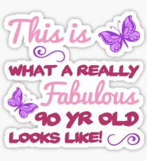 Fabulous 90th Birthday Sticker