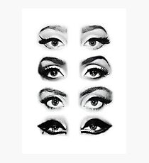 She got Haus of Gaga Eyes  Photographic Print