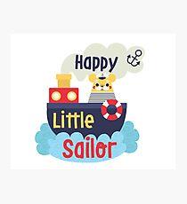 Happy Little Sailor Photographic Print