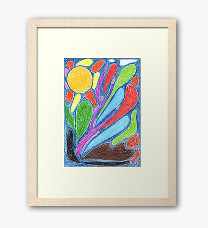2210 - Abstract Realities under the Sun before Blue Framed Print