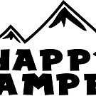 HAPPY CAMPER MOUNTAINS HIKING SKIING by MyHandmadeSigns