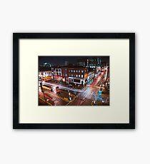 Manchester Northern Quarter - Light Trails Framed Print