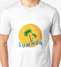 Palm trees and sunset. Summer. T-Shirt