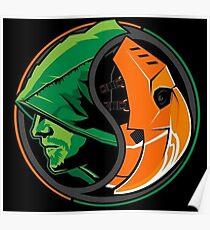 Arrow Deathstroke Yin Yang Poster