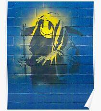 BANKSY, Graffiti Artist, Street Artist, Grin Reaper Poster
