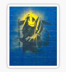 BANKSY, Graffiti Artist, Street Artist, Grin Reaper Sticker