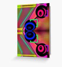 Neon alien sci fi vortex swirls abstract weird design  Greeting Card