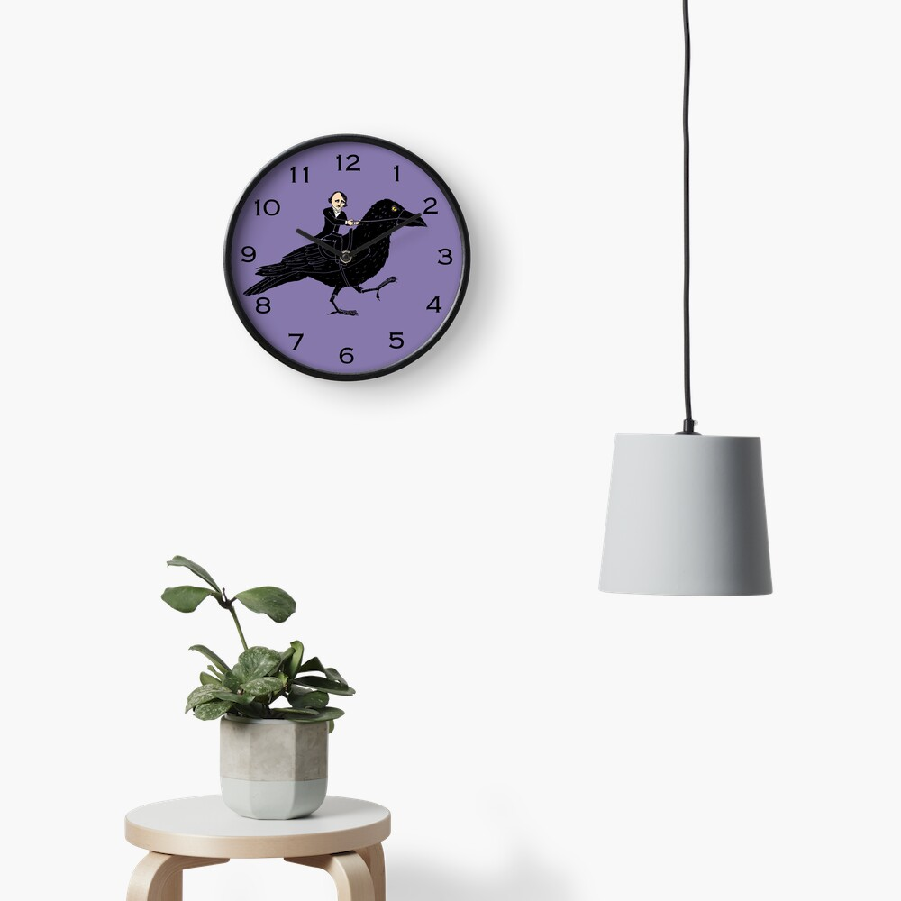 Poe and Raven Clock