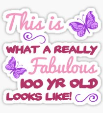 Fabulous 100th Birthday Sticker