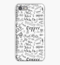 Coffee hand drawn cute background iPhone Case/Skin