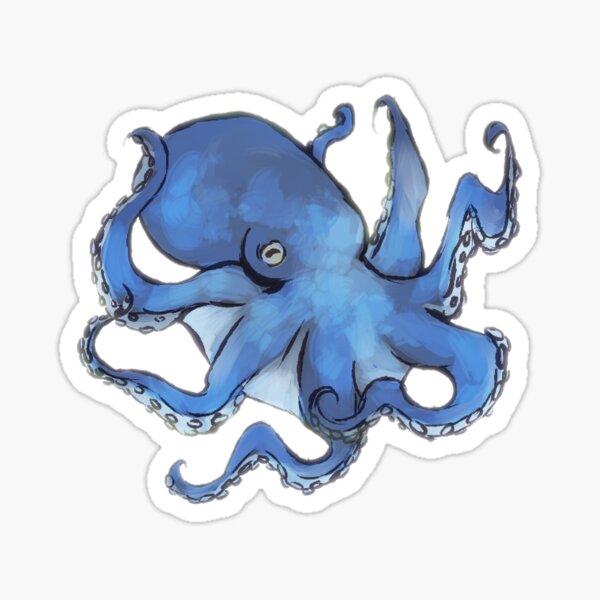 Octopus Having a Fun Time Sticker