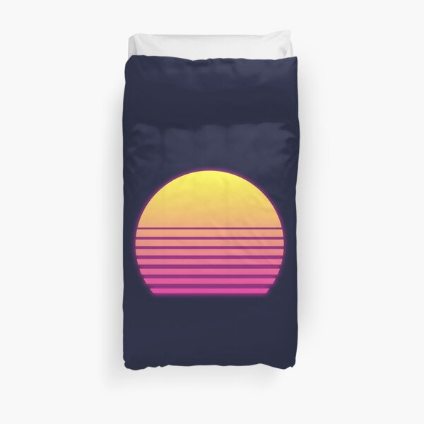 Synthwave Sun Duvet Cover