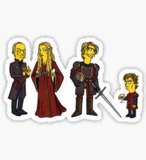 House Lannister - Hear Me Roar! Sticker